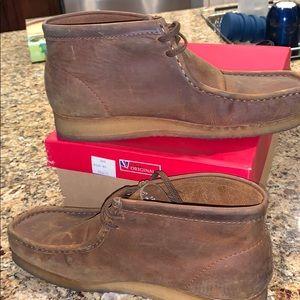 Men's leather Clark's size 12 chukkas